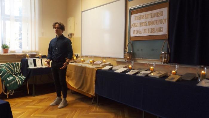 Konkurs Recytatorski Poezji i Prozy Absolwentów III LO